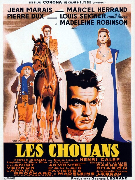 LES CHOUANS - BOX OFFICE JEAN MARAIS 1947