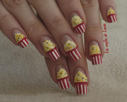 Nail Art pop corn