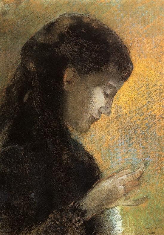 Odilon Redon, Portrait de Madame Redon