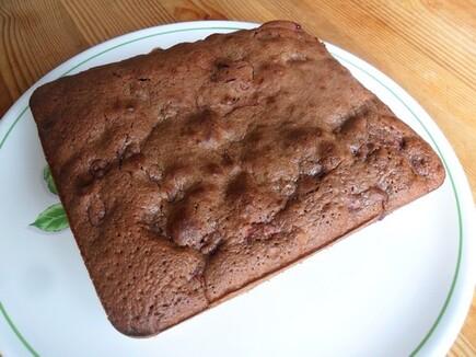*** Brownie au chocolat au lait et framboises ***