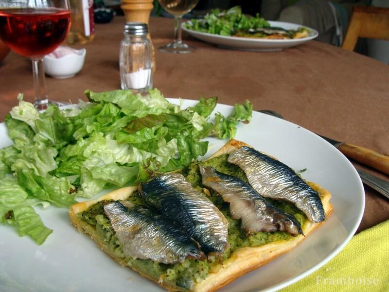 Tarte fine courgettes et sardines fraiches