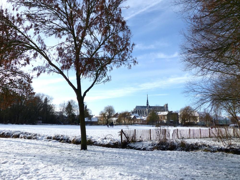 Sous la neige, ma ville.