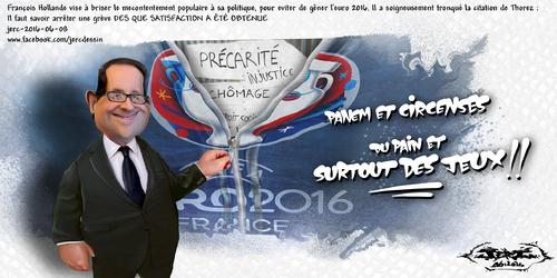 JERC 2016-06-08, caricature François Hollande paravent des atteintes aux droits de l'homme !!!!!! www.facebook.com/jercdessin Cliquer sur la photo pour voir en plus grand