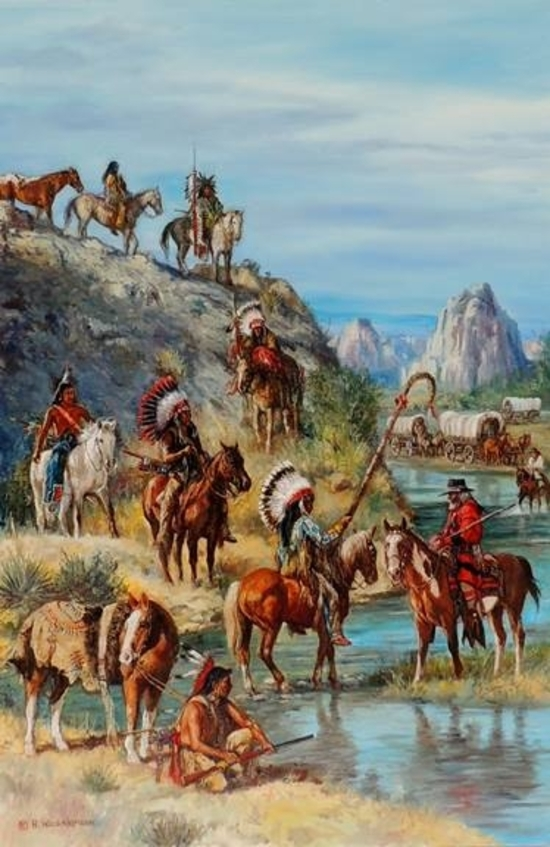 Meeting At The Oregon Trail - Shoshone