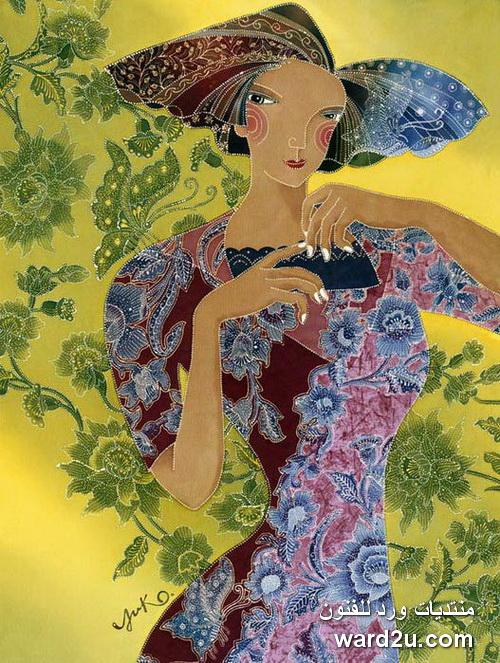 Batik (peinture sur toile) de : Yuko Nakata