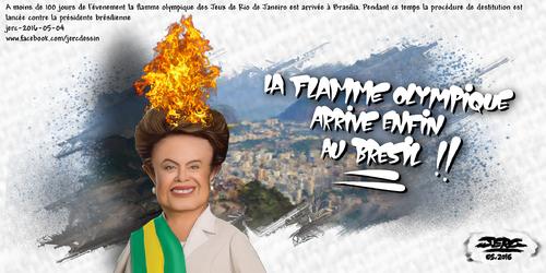 JERC 2016-05-04, caricature Dilma Rousseff. l'envers de la médaille !!!  ! www.facebook.com/jercdessin Cliquer sur la photo pour voir en plus grand