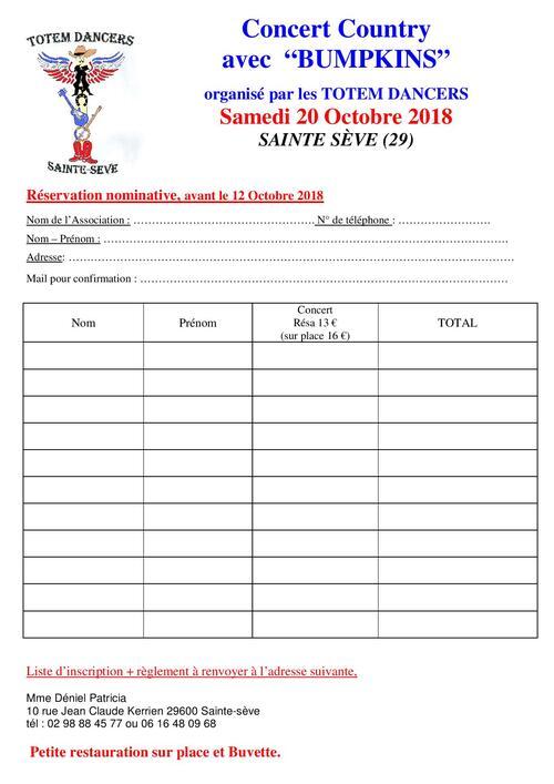 affiche et reservation sainte sève 29600 le 20-10-2018 à 20h 30
