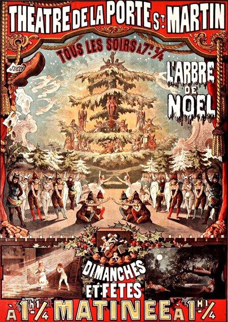 L'arbre de Noël : féerie en 3 actes et 30 tableaux d'Arnold Mortier, Albert Vanloo et Eugène Leterrier. Musique de Charles Lecocq. - Paris : Théâtre de la Porte Saint-Martin, 06-10-1880