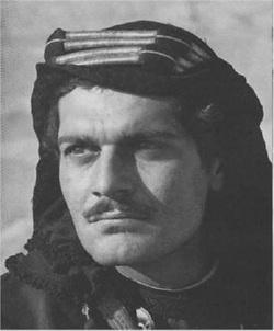 Omar Sharif dans l'Awrence d'Arabie