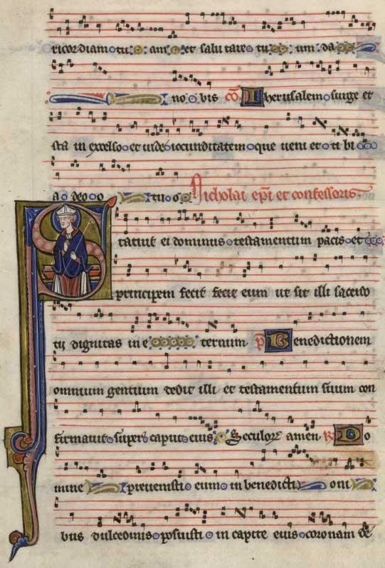 Grégorien 'graduel_st_junien' - copié et enluminé vers 1250-1260 dans l'atelier parisien de Nicolas Lombard