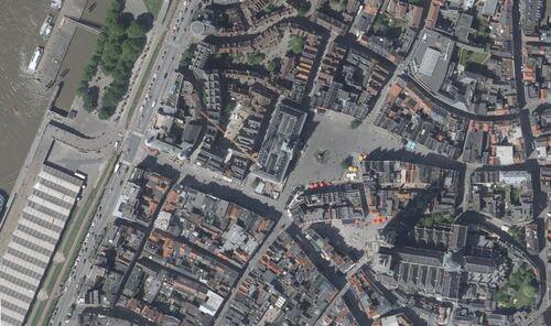 Anvers - centre ville et l'Escaut (geo.be)