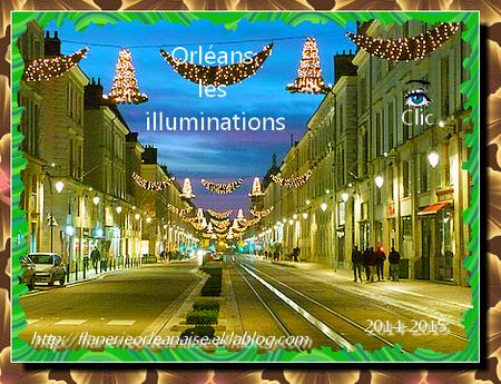 Orléans, ambiance fin d'année: Les illuminations
