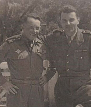 *  Michèle et Annick reviennent sur les traces de leur père, le commandant Marcel CHRETIEN