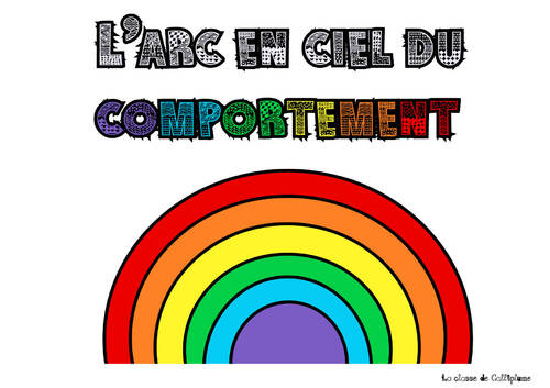 L'arc en ciel du comportement