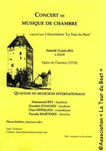 Mémorables de la Tour du Bost : Concert le 11 juin