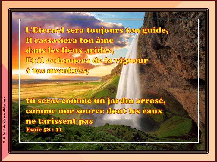 Tu seras comme une jardin arrosé - Esaïe 58 : 11