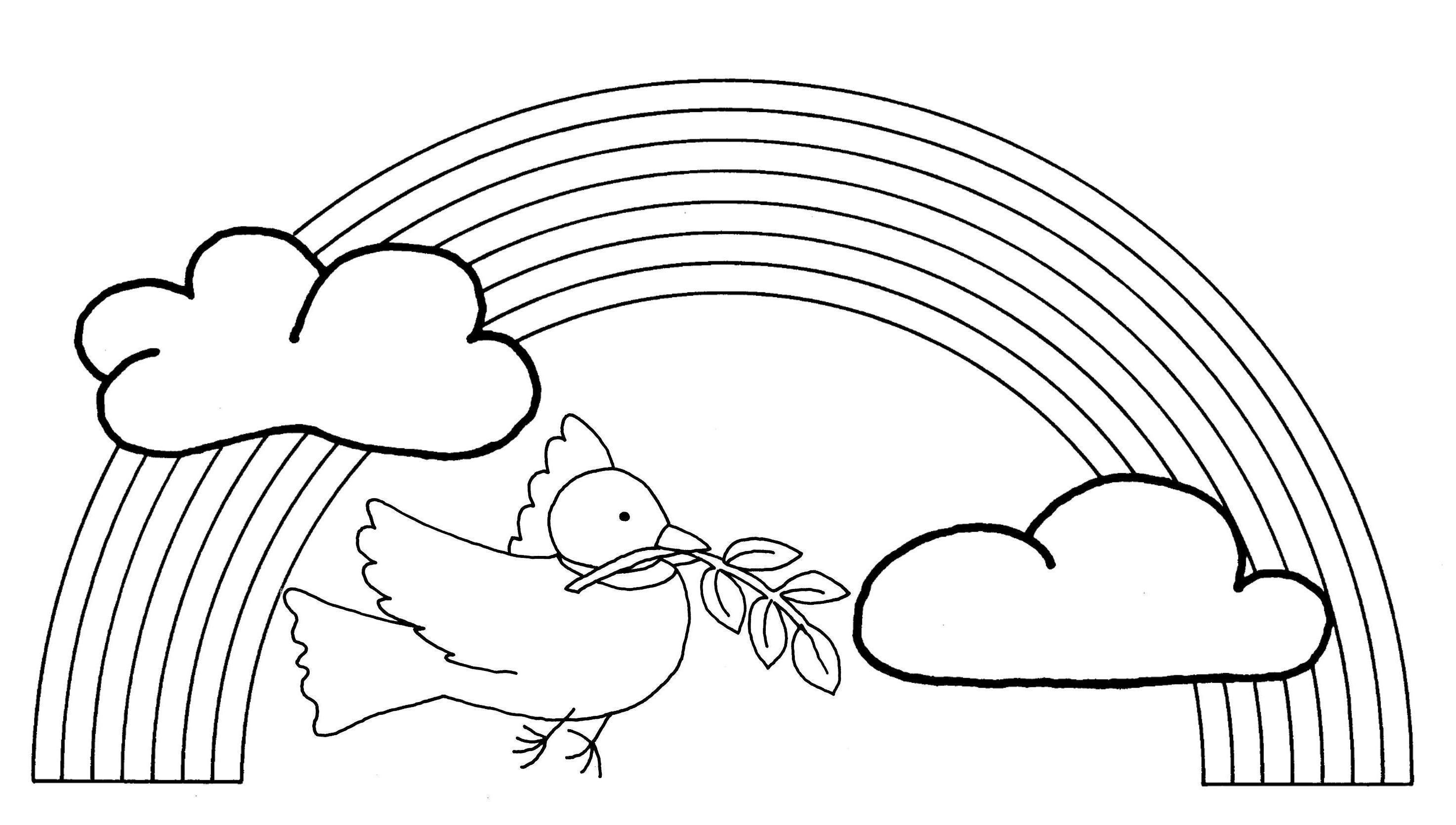 Bricolage Noé Mobile arc en ciel colombe
