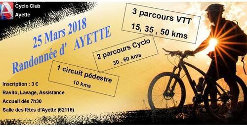 16 ème randonnée du Cyclo Club Ayette