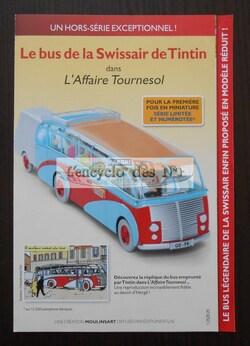 """Le bus de la Swissair de Tintin - Hors-série """"En voiture Tintin"""""""