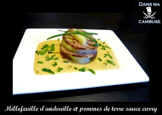 millefeuille andouille curry