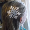 barrette flocon reine des neiges