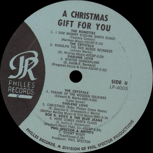 "Various Artists : Album "" A Christmas Gift For You From Philles Records "" Philles Records LP-4005 [ US ] en 1963"