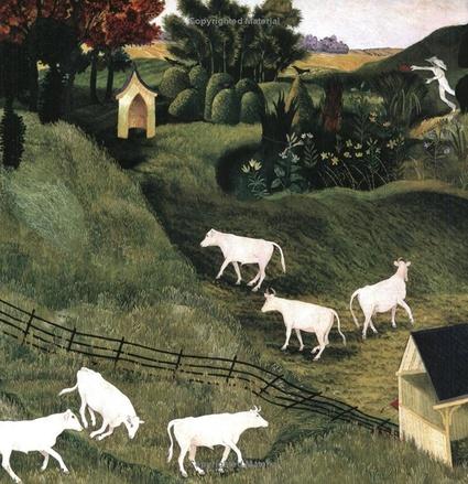 15 - Des vaches, dessin/ peinture contemporain