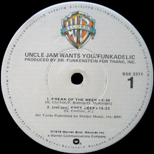 "Funkadelic : Album "" Uncle Jam Wants You "" Warner Bros. Records BSK 3371 [ US ]"