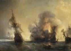 La Bataille de Lagos (1693) - Théodore Gudin (1802-1880)