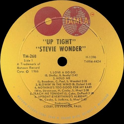 "Stevie Wonder : Album "" Uptight "" Tamla Records TS 268 [ US ]"