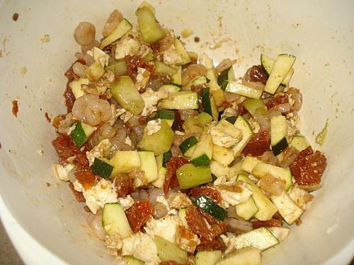 Tartare de Crevettes, Courgettes, Tomates confites-copie-3