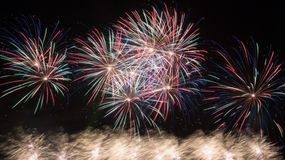 Le grand feu d'artifice de Saint-Cloud.