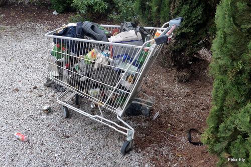 Le chariot du supermarché : caddy !