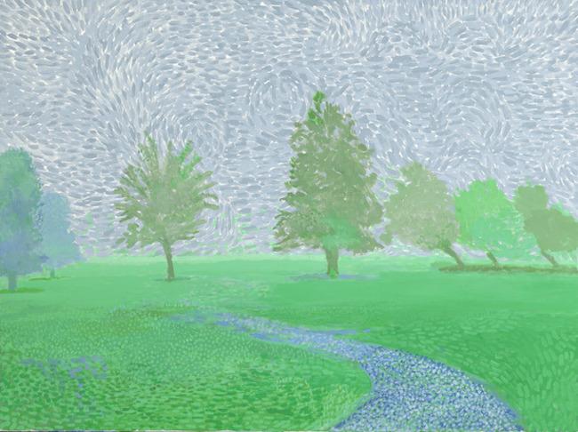La galerie Lelong expose les derniers tableaux de David Hockney