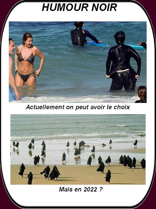 Un peu d'humour noir sur le burkini...