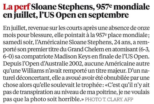 La perf: Sloane Stephens
