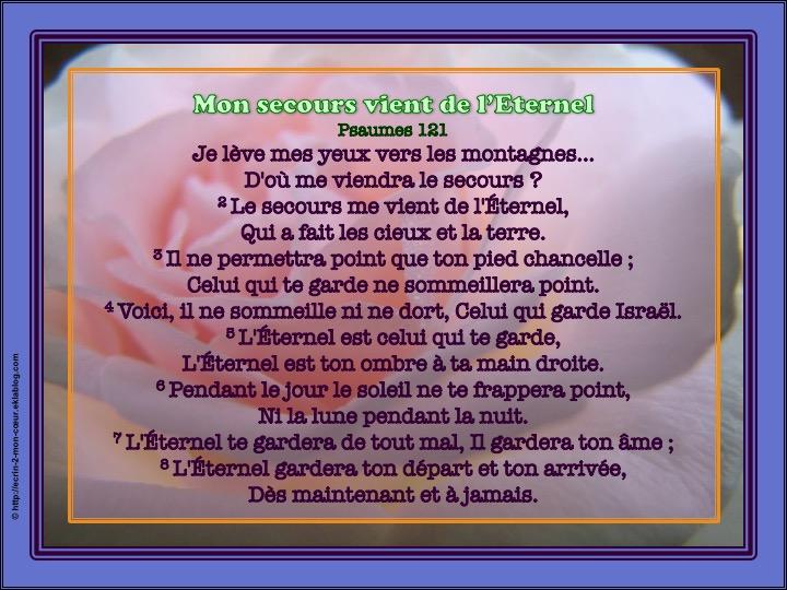 Mon secours vient de l'Eternel - Psaumes 121