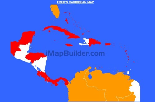 FRED'S CARIBBEAN MAP