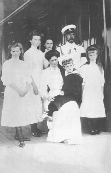 otma-romanov-forever:  The Romanov family in standard…  The Standart was such a beautiful ship! Click here for more Romanov stuff!