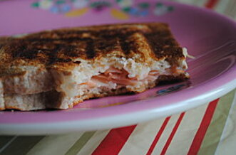 Croque-monsieur au saumon