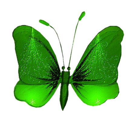 Papillons de fête en vert