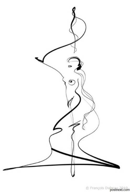 ART FEMME sous le Crayon avec YVES
