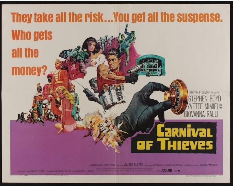 THE CAPER OF THE GOLDEN BULLS (CARNIVAL OF THIEVES) BOX OFFICE USA 1967
