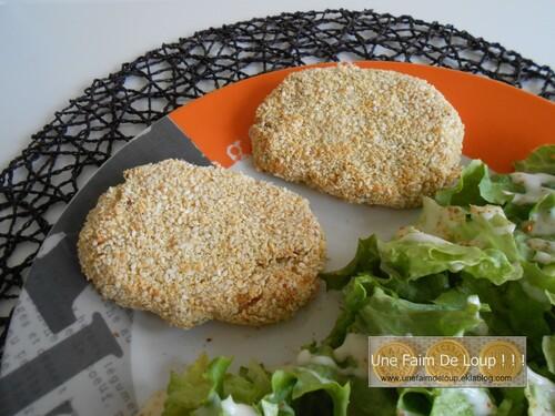 Croquettes pomme de terre jambon au sésame