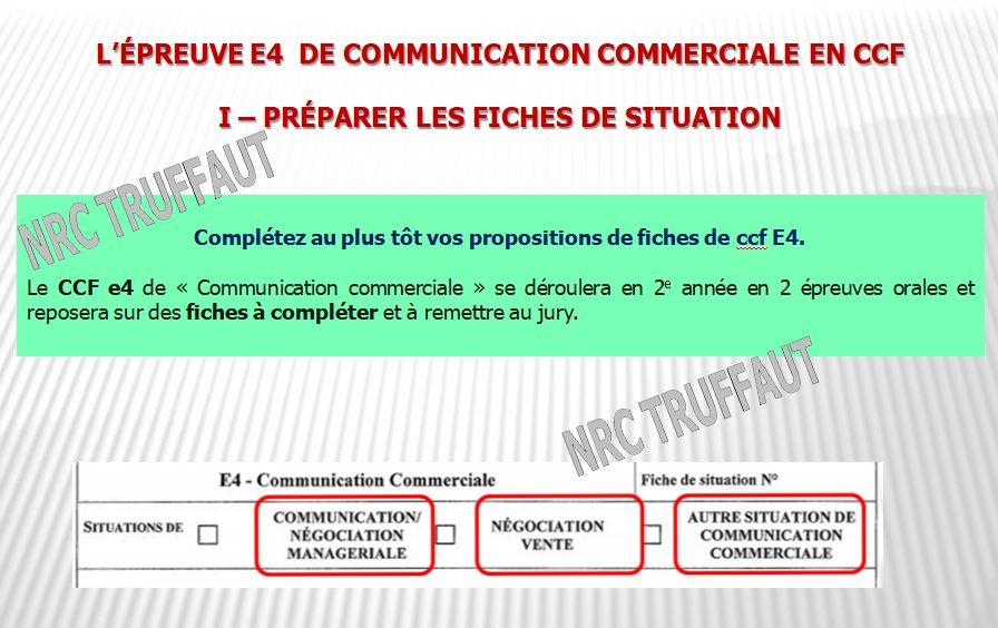 BTS NRC - L'épreuve e4 - Communication commerciale - BTS NRC ... BTS NRC - L'épreuve e4 - Communication commerciale