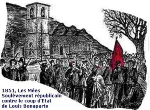 1851 Les Mées soulèvement contre le coup d'État de Bonap