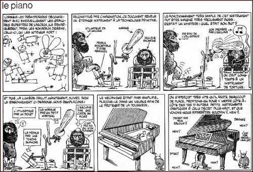 Le piano, vue par Gotlieb