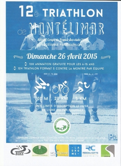 Triathlon de Montélimar 26 avril 2015