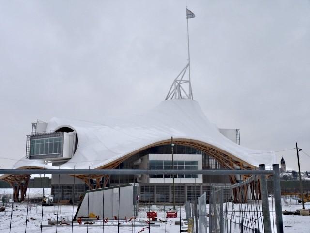 Le Centre Pompidou Metz chantier janvier 3 10 01 2010