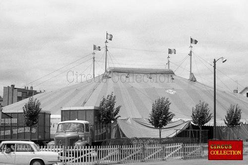le cirque Jean Richard à Annemasse en 1973, photos d'Hubert Tièche (archives Philippe Ros)